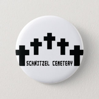 schnitzel cemetery cross 2 inch round button