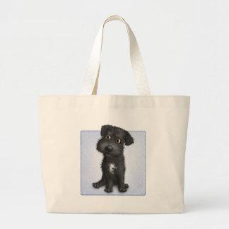 Schnoodle (Black) Large Tote Bag
