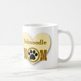 Schnoodle Mom Dog Lover Paw Print Gift HY7 Coffee Mug