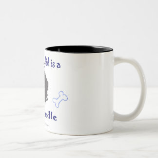 schnoodle Two-Tone coffee mug