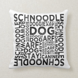 Schnoodle Typography Throw Pillow