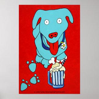 """""""SCHNOOK'S ROOT BEER FLOAT"""" Dog Art Print"""