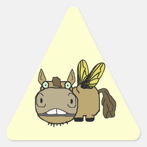 Schnozzle Horse Horsefly Cartoon Round Sticker