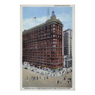 Schofield Building, Cleveland Ohio 1920s Vintage Poster