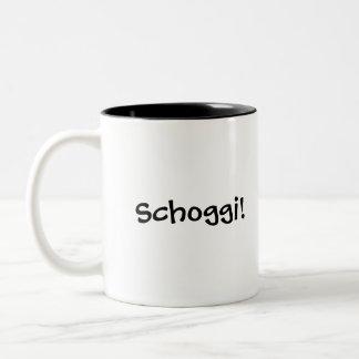Schoggi! Swiss hot chocolate mug with flag
