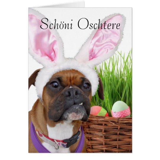 Schöni Oschtere Easter boxer greeting card