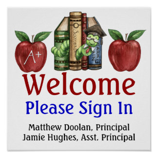 School Administration / Sign In Poster - SRF