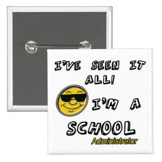 School Administrator 2 Inch Square Button
