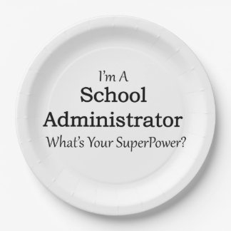 School Administrator 9 Inch Paper Plate