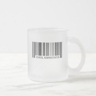 School Administrator Barcode Frosted Glass Coffee Mug