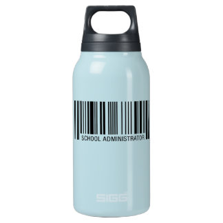 School Administrator Barcode Insulated Water Bottle