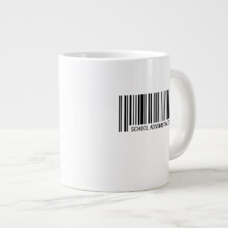 School Administrator Barcode Large Coffee Mug