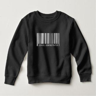 School Administrator Barcode Sweatshirt