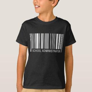 School Administrator Barcode T-Shirt