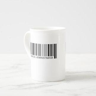 School Administrator Barcode Tea Cup