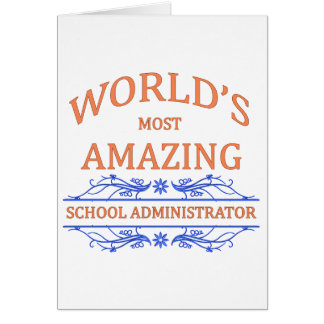 School Administrator Greeting Cards