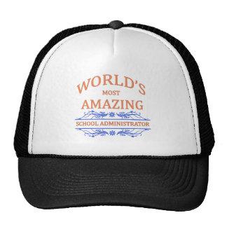 School Administrator Mesh Hats