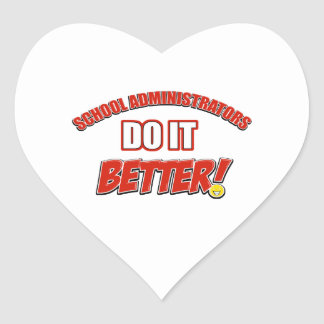 School Administrator job design Heart Sticker
