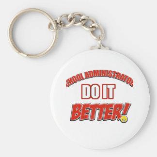 School Administrator job design Key Chains