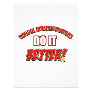 School Administrator job design Letterhead