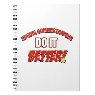 School Administrator job design Note Books