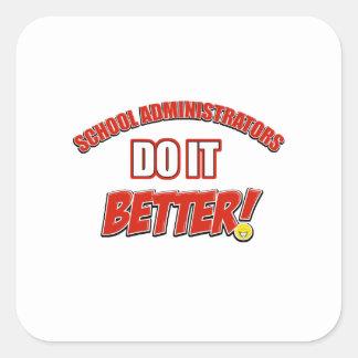 School Administrator job design Square Sticker