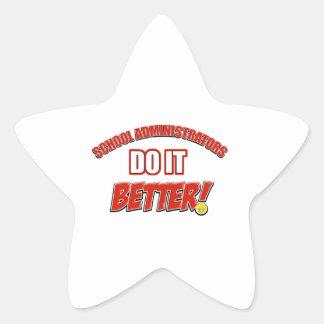 School Administrator job design Star Sticker