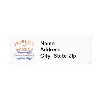 School Administrator Return Address Labels