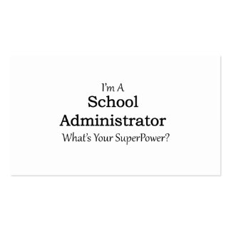 School Administrator Pack Of Standard Business Cards