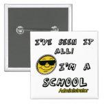 School Administrator Pinback Button