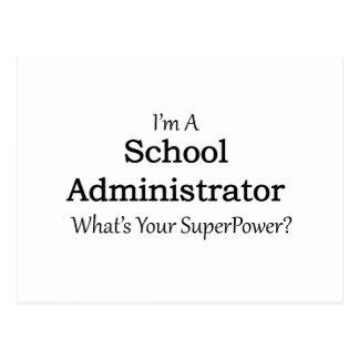 School Administrator Postcard