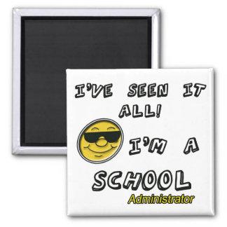 School Administrator Square Magnet