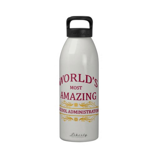 School Administrator Water Bottles