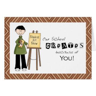 School Art Teacher Thank You Card