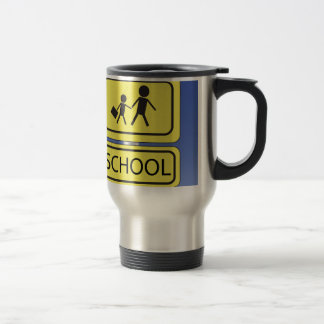 school banner travel mug
