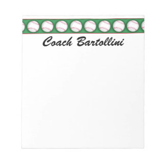 School Baseball Note Pad - SRF