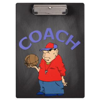 School Basketball Coach Gift   Vintage Chalkboard Clipboard