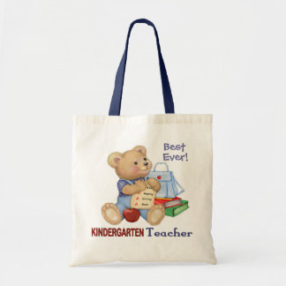School Bear - Kindergarten Teacher Tote Bag