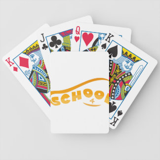 School Bicycle Playing Cards