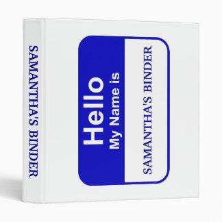 School Binder - Hello My Name Is (Insert name)