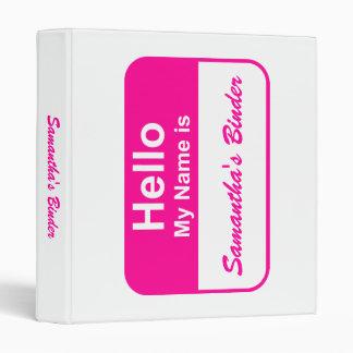 School Binder - Hello My Name Is (Insert name) 2