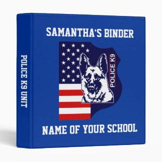 School Binder Police K9