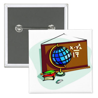School Bulletin Board 2 Inch Square Button