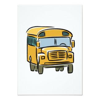 "School Bus 2 5"" X 7"" Invitation Card"