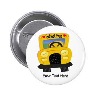 School Bus 2 (Customizable) Pinback Buttons