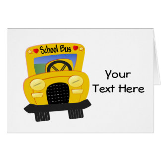 School Bus 2 (Customizable) Greeting Card