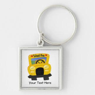 School Bus 2 (Customizable) Key Chain
