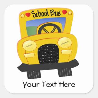 School Bus 2 (Customizable) Square Sticker