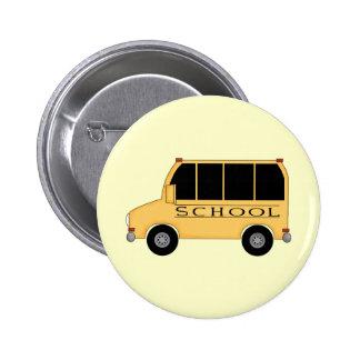 School Bus 2 Inch Round Button