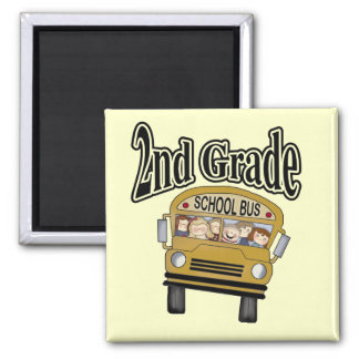 School Bus 2nd Grade Tshirts and Gifts Magnet